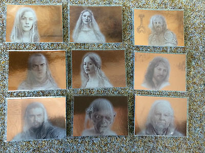 Topps Lord of the Rings Masterpieces 2  RARE  9 Card Bronze  Insert Set  LOTR