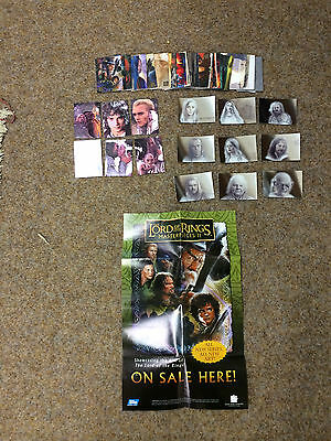Topps Lotr Masterpieces 2 : 72 Card Base Set , Poster  + 9 And 6 Insert Sets