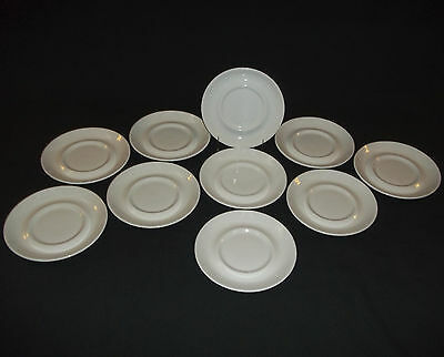 """10-1963 White SAUCERS for SOUP BOWLS J & G Meakin STUDIO England 5 7/8"""""""