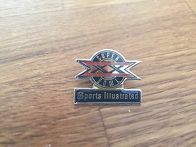 Official NFL Super Bowl XX 20 Sports Illustrated Pin Badge #6 :  Bears Patriots
