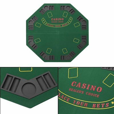 1.2m Foldable Poker Table 8 Players Casino Chip Trays Drink Holders Poker Game