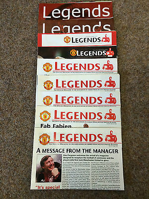 """9  Manchester United Association Of Former Players  """" Legends """" Magazines"""
