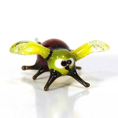 "Blown glass figurine ""Bee"". Russian Murano. Handmade.#55-4"