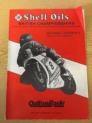 1984 Shell Oils British Championship Oulton Park Motorcycle Races Programme