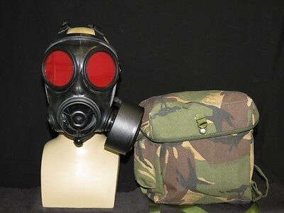 S10 Gas Mask With Tinted Red 3mm lenses + Gas Mask Bag/ Video Clip FOR EXPORT