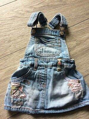 Next Baby Girl 6-9months Dungaree Dress
