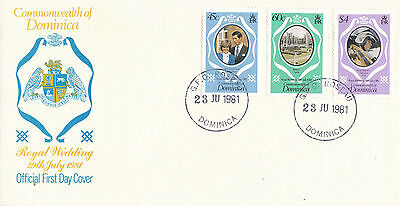 Dominica 23 July 1981 Royal Wedding Unaddressed Official First Day Cover