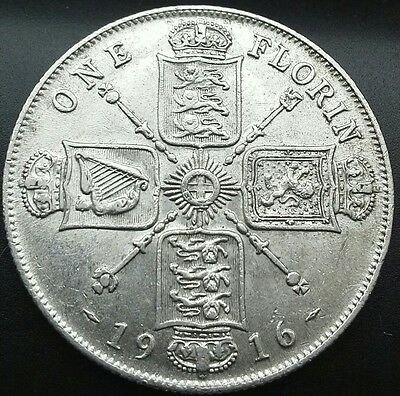 1916 George V Florin/two Shillings.