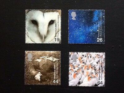 GB, Set Of 4 Mnh, Millennium Projects (1st Series) Above And Beyond. 2000.