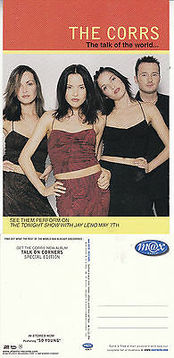 Music - The Talk Of The World The Corrs Advertising Unused Colour Postcard