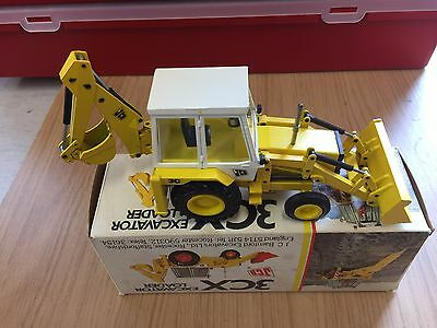 NZG JCB 3C Backhoe Diecast Loader Digger Boxed  (3CX) White Cab