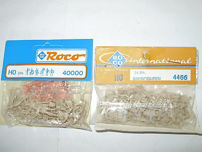 48 x Roco figures. Railway and general shapes. NEW. HO. Boxed. Unpainted.
