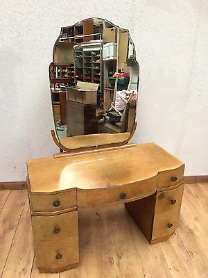 Vintage Walnut Veneer Dressing Table