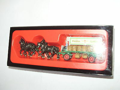 Preiser HA 30473. Horse & wagon set. Assembled. NEW and unused. HO scale.