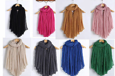New Ladies Fashion Big Large Maxi Long Wide Plain Viscose Scarf/Hijab Shawl/Wrap