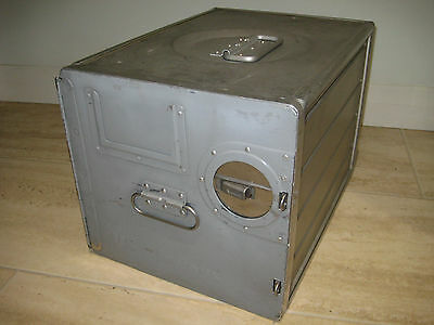 AIRLINE ATLAS BOX Limited Time Only! STORAGE TOOLBOX AIRCRAFT METAL ALUMINIUM