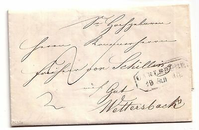 1840 Pre-stamp letter Carlsruhe (Baden-Wurttemberg, Germany) to Wettersbach