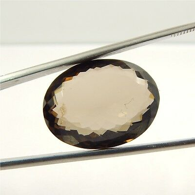 27 cts Natural Smoky Quartz Crystal Gemstone Healing Point Faceted P#191-17