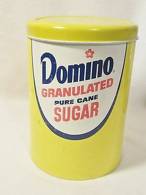 Domino Granulated Sugar Tin Canister / Cheinco Housewares