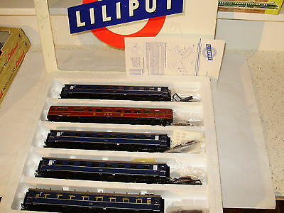 Liliput  # 844 5 car set of the DB Railways. New old stock. HO Scale. Boxed