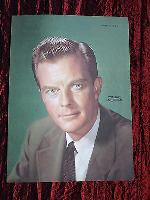 """William Lundigan - Film Star - 1 Page Picture -"""" Clipping / Cutting"""" - #2"""