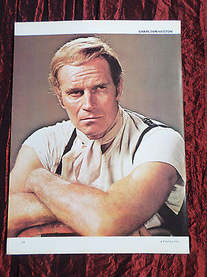 """Charlton Heston - Film Star - 1 Page Picture -"""" Clipping / Cutting"""" - #4"""