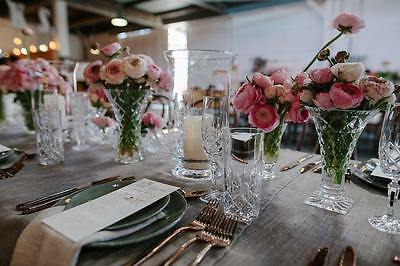 Vintage Crystal And Glass Wedding Vases
