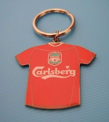 Lot Of 5 Liverpool Football Club New Sealed Metal Keyrings Official Home Strip