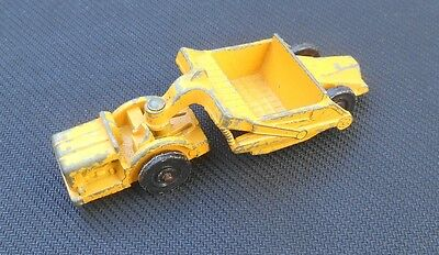 VINTAGE FUN HO No 55 TRACTOR SCRAPER OLD DIECAST TOY MATCHBOX SIZE MADE IN NZ