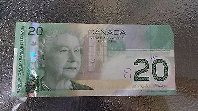 Canadian $20 Dollar Bank Note Bill AZL7592448 Circulated 2004 Canada