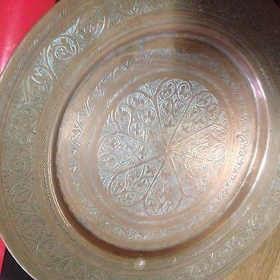 Antique Islamic,, Middle Eastern ,persian ,, Copper Tray