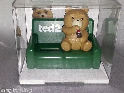 Nohohon Lucky Ted 2 Teddy Bear Drinking Solar ECO Japan Figure Exclusive NEW
