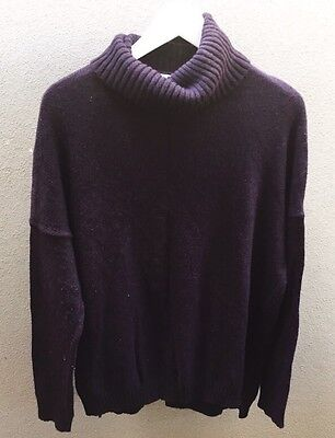 Witchery Ladies Turtle Neck Long Jumper Knit Wool Blend Size 10 / small