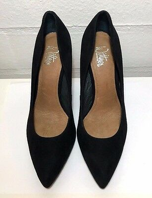 WITTNER Black Suede Shoes Size 36 Leather Elegant Heels New