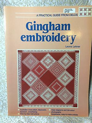 Gingham Embroidery by Leona Lehner