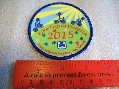 Canadian Girl Guides  Badge/Patch Bike Trip To Victoria
