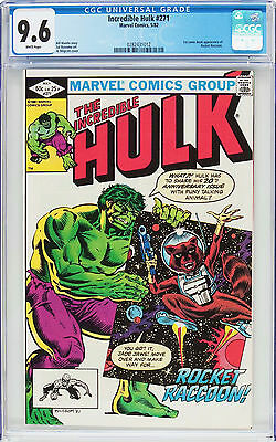 The Incredible Hulk 271 (May 1982), CGC 9.6 W, First Appearance Rocket Raccoon