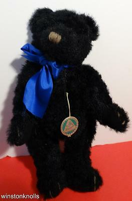 """Hermann Black Mohair #139/150  Made In Germany Tagged With Metal Button 10"""" 25Cm"""