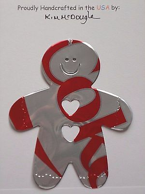 Gingerbread Man Handmade Christmas Ornament Recycled Diet Cola Soda Pop Can Art