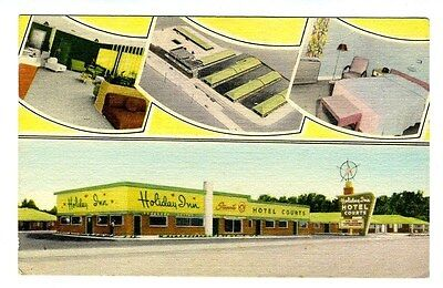 Holiday Inn Hotel Courts Linen Postcard Memphis Tennessee 1st Holiday Inn