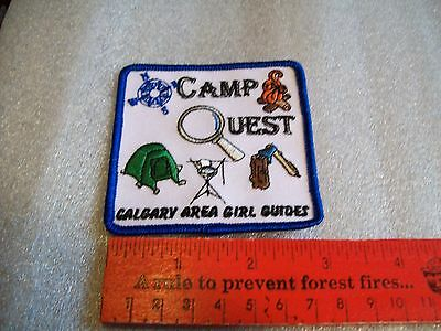 Canadian Girl Guides  Badge/Patch Camp Quest