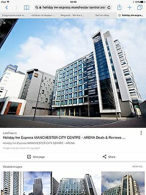 Holiday Inn Express Hotel Room. Manchester Centre Arena. 1 Night Sat 01/07/17