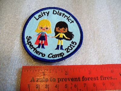 Canadian Girl Guides  Badge/Patch Laity District Superhero Camp