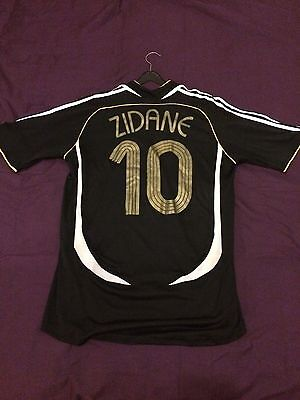 "Official 2007 The Match Against Poverty Shirt Zidane #10 Large (42-44"") RARE"