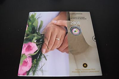2008 Wedding Cake Colorized 25 cents Canada Commemorative 7 Coin Mint Set