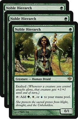 3x Noble Hierarch, Magic the Gathering rare, mtg