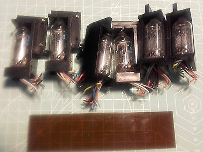 Six off ITT GN13A Nixie Tubes Tested Working - Used Ex Equipment