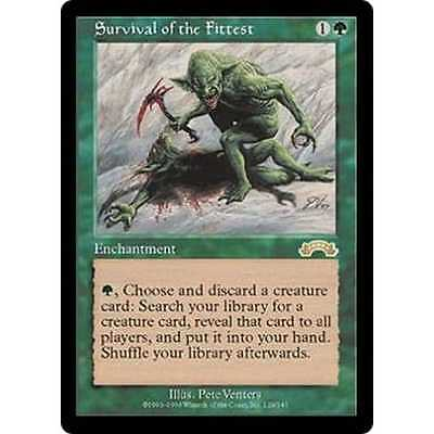 Survival of the Fittest, Magic the Gathering rare, mtg