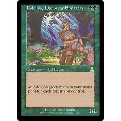 Rofellos, Llanowar Emissary, Magic the Gathering rare, mtg
