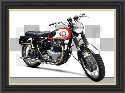 Bsa A10 Motorcycle Print / Poster